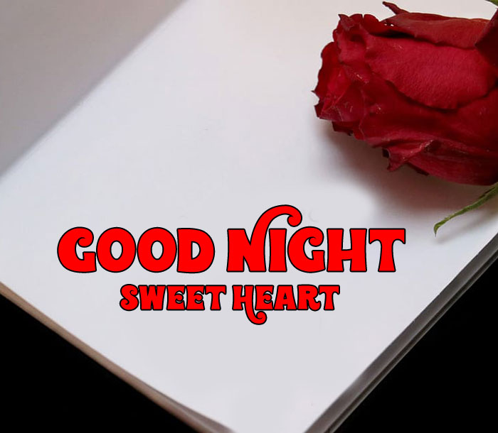 Good Night Sweet Heart images with white paper hd