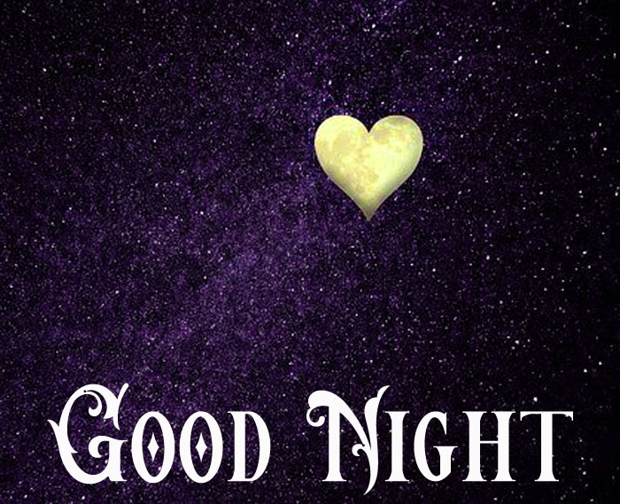 Good Night images with heart hd download