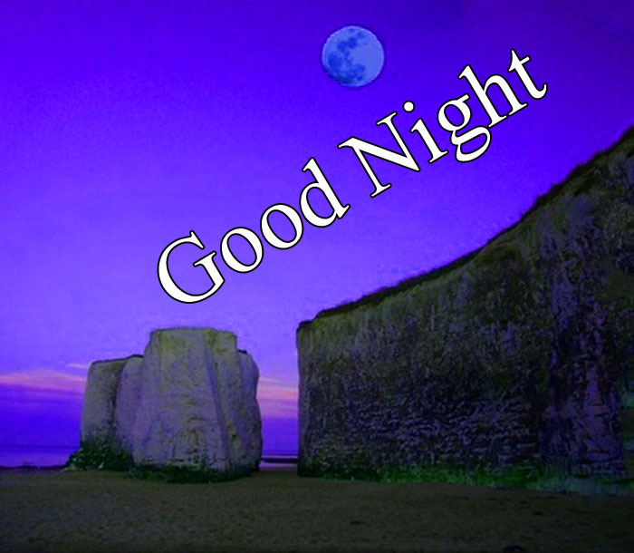 Good Night moon cliff images hd download