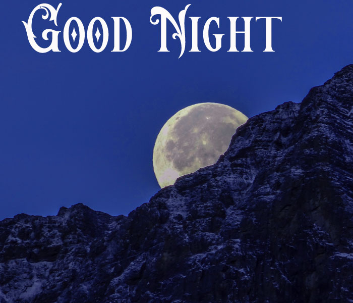 Good Night mountain and moon pics download
