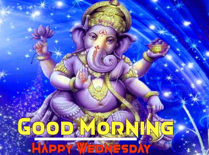 Shree ganesh ji good morning happy wednesday photo