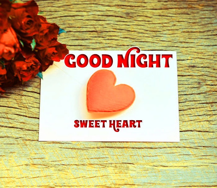 best red rose Good Night Sweet Heart photo free download