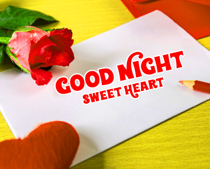 best red rose Good Night Sweet Heart photo hd download