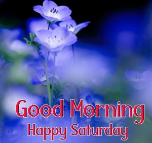blue Good Morning Happy Saturday images hd