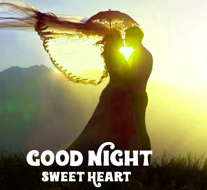 cute couple Good Night Sweet Heart images hd