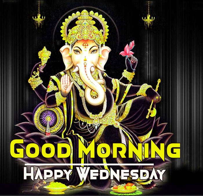 ganesh ji good morning image with happy wednesday wish