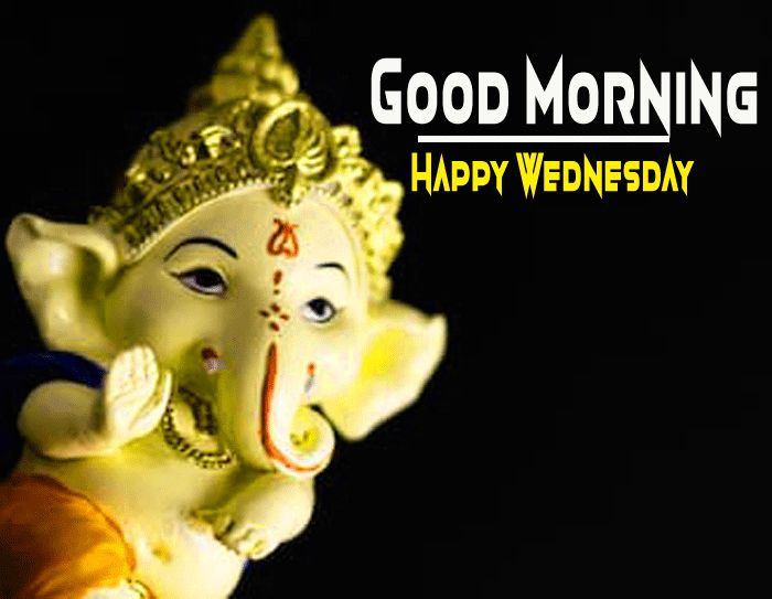 ganpati bappa good morning image and happy wednesday wish