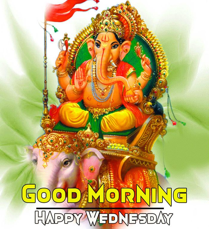 ganpati good morning image with happy wednesday wish