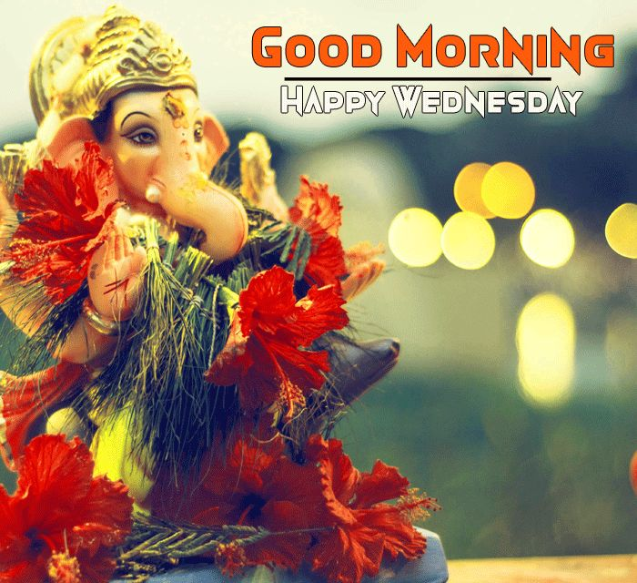 good morning happy wednesday ganpati image