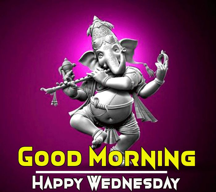 good morning happy wednesday with ganesha pic