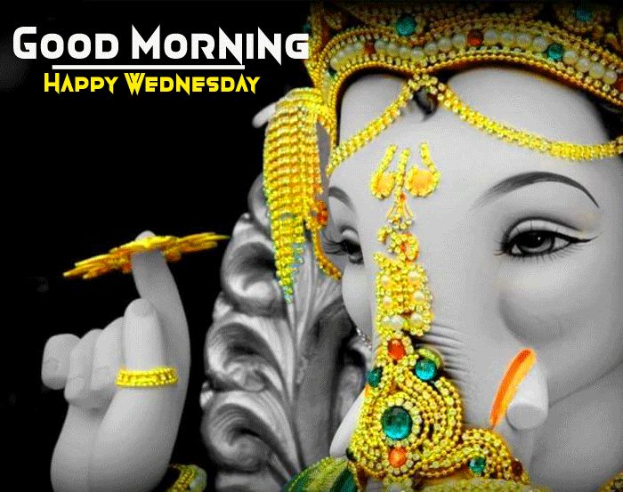 happy wednesday good morning images with ganpati bappa pic