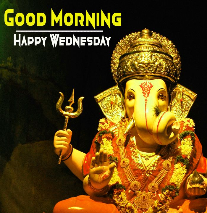 shree ganesh good morning image and happy wednesday wish