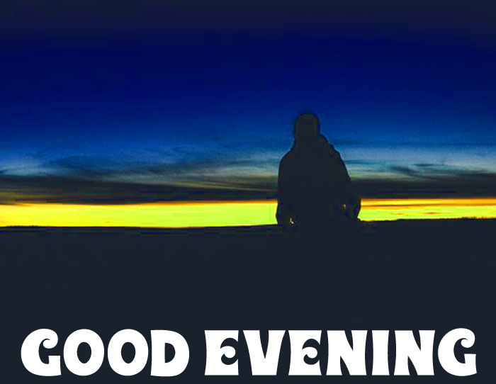 sunset boy images with Good Evening hd