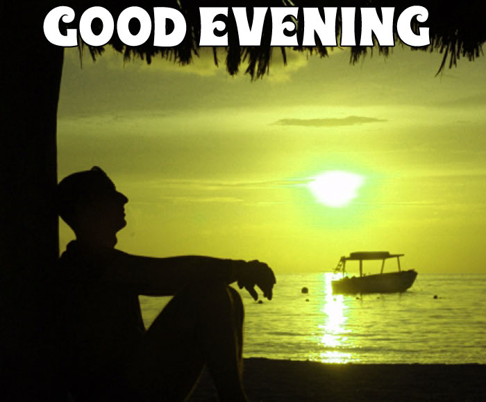 sunset images with alone boy Good Evening hd download