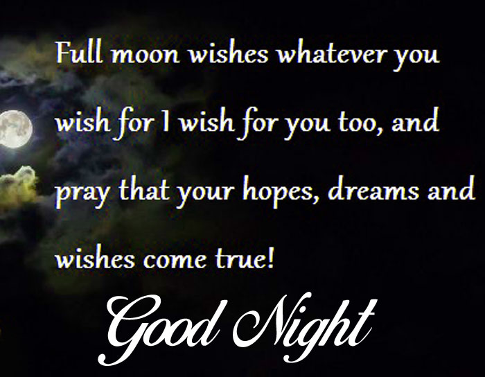 Good Night quotes moon images