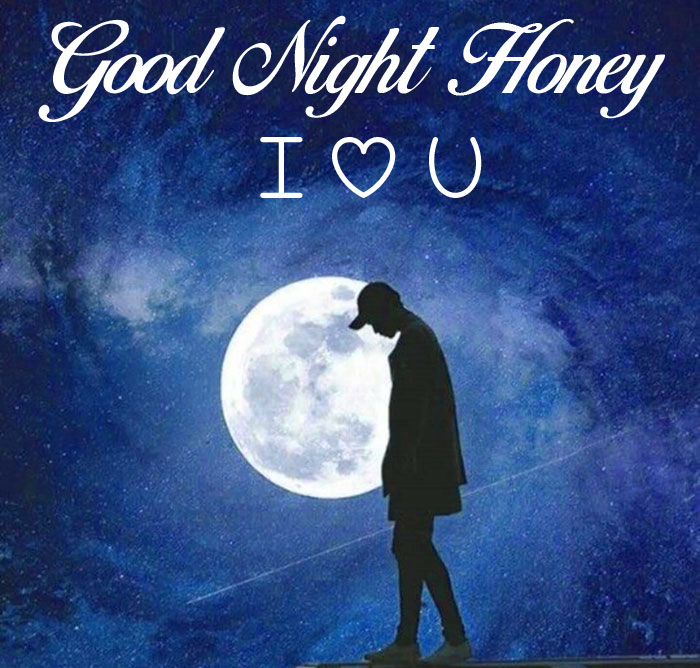 alone boy moon Good Night Honey I Love You hd picture
