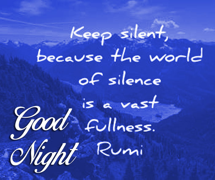 best rumi quotes Good Night images