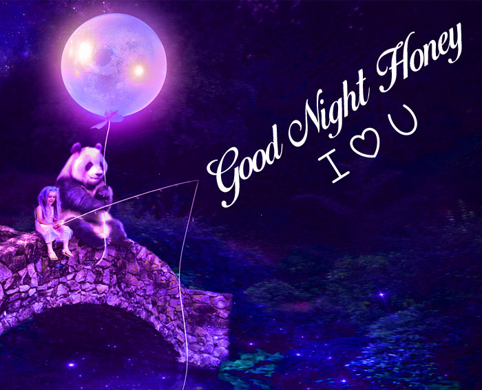latest moon Good Night Honey I Love You hd picture