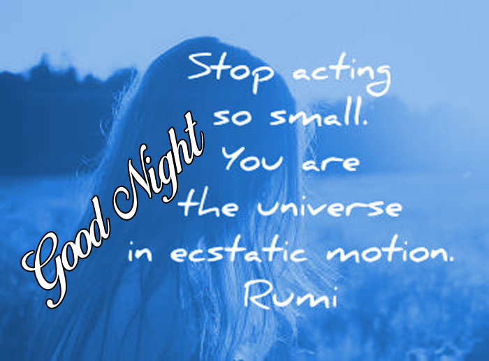 latest rumi quotes Good Night images