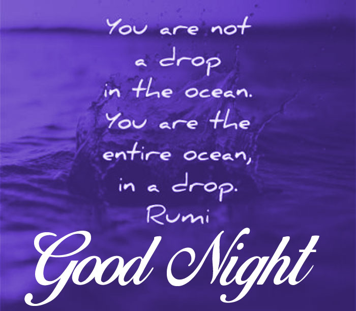 rumi quotes Good Night imagees