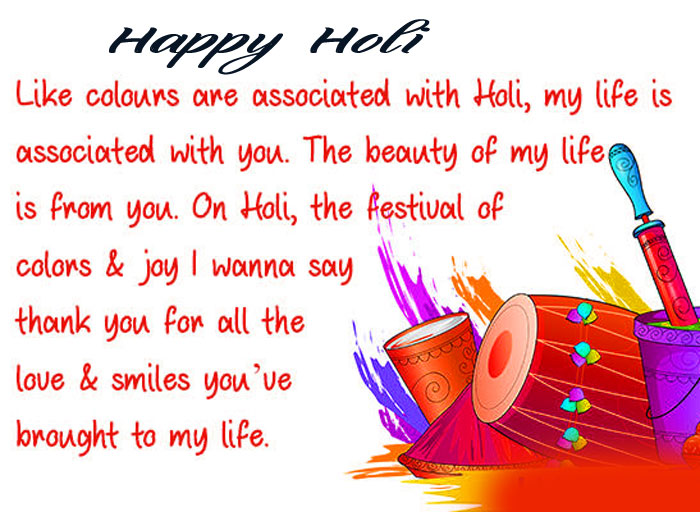 Happy Holi My Love wishes pics hd