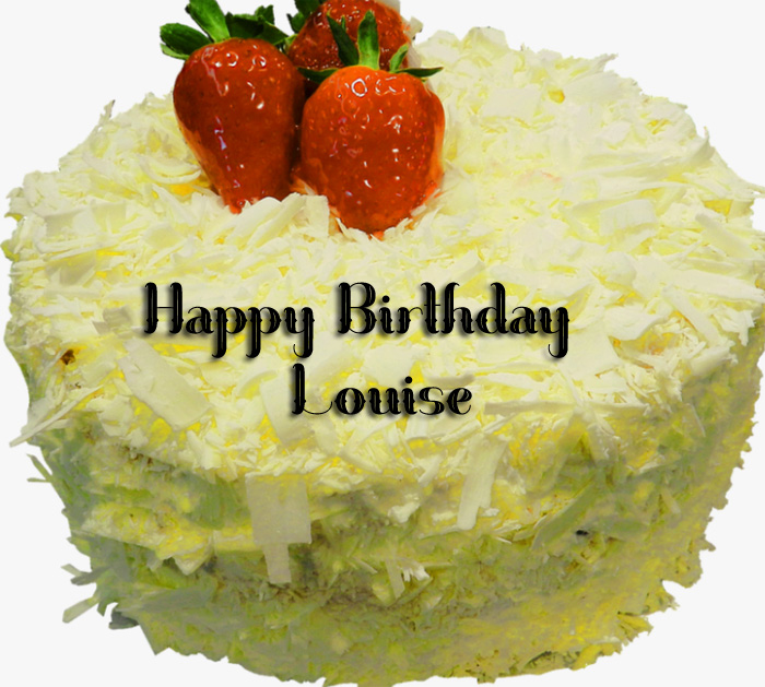 beautiful cake Happy Birthday Louise images hd