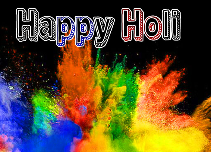 beautiful color Happy Holi hd photo
