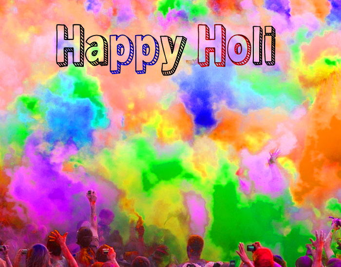 blue Happy Holi hd wallpaper