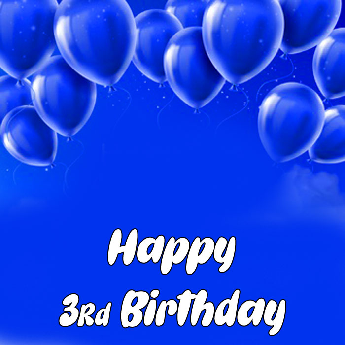 blue balloon Happy rd birthday images hd