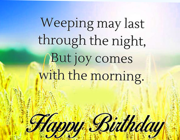 blue bible Happy Birthday Blessing photo