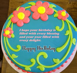 blue cake Happy Birthday Blessing pics hd