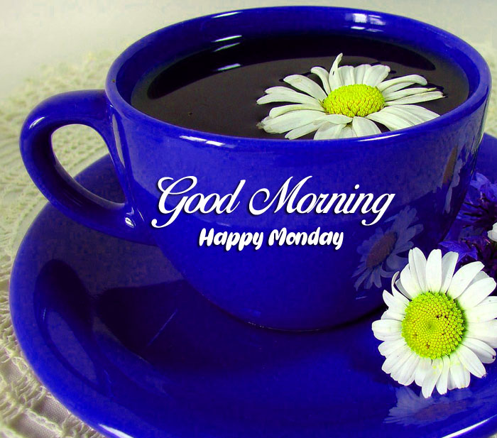 blue cup Good Morning Happy Monday images hd