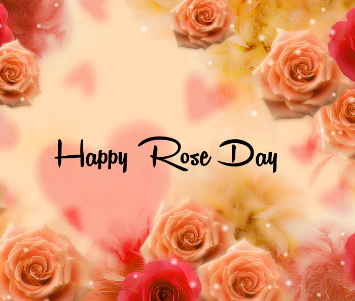 card flower Happy Rose Day Gift photo