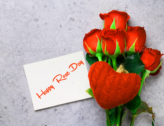 card flower Happy Rose Day Gift wallpaper