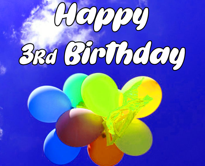 colorful balloon Happy rd birthday images