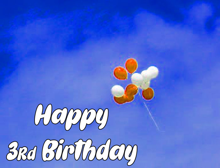cute balloon Happy rd birthday images