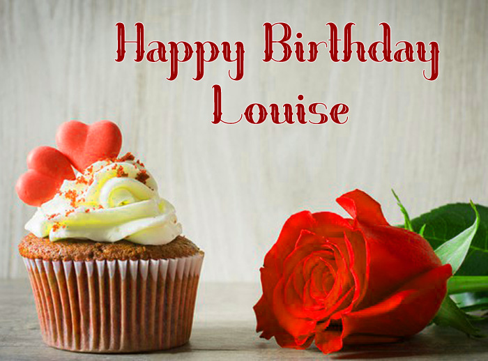 cute cake Happy Birthday Louise wallpaper
