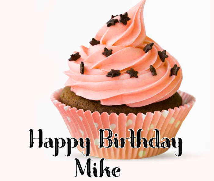cute cakes Happy Birthday Mike wallpaper