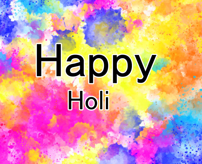 cute colorful Happy Holi photo