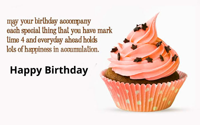 cute pink cake Happy Birthday Message images hd