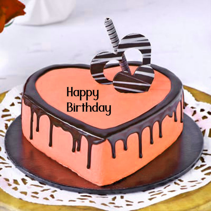 cute pink heart Happy Birthday female