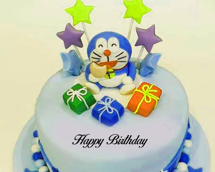 doraemon birthday cake with