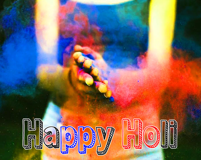 girl Happy Holi hd wallpaper