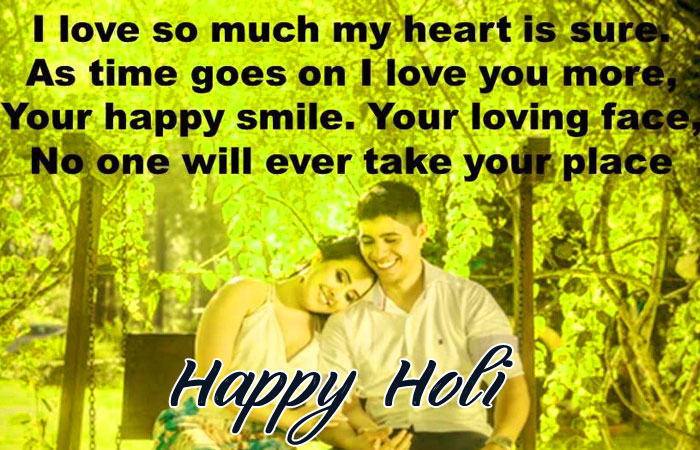 girlfriend Happy Holi My Love images