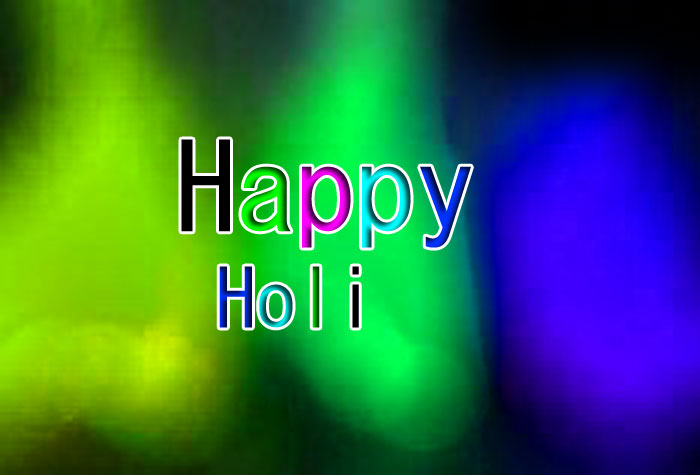 green color Happy Holi images hd