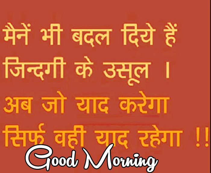 latest Good Morning quotes in hindi hd picture