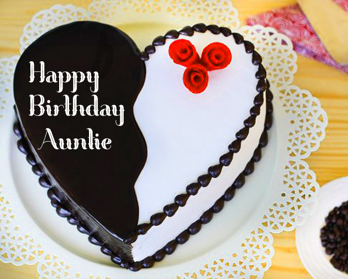 latest Happy Birthday Auntie cute heart images