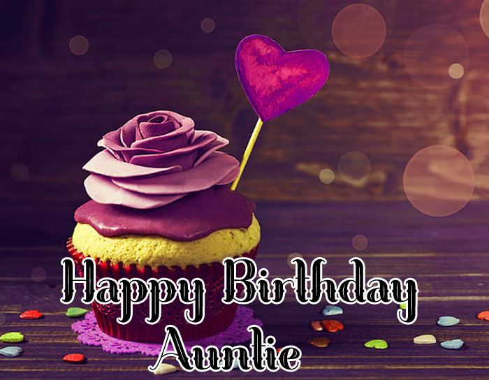 latest Happy Birthday Auntie heart images hd