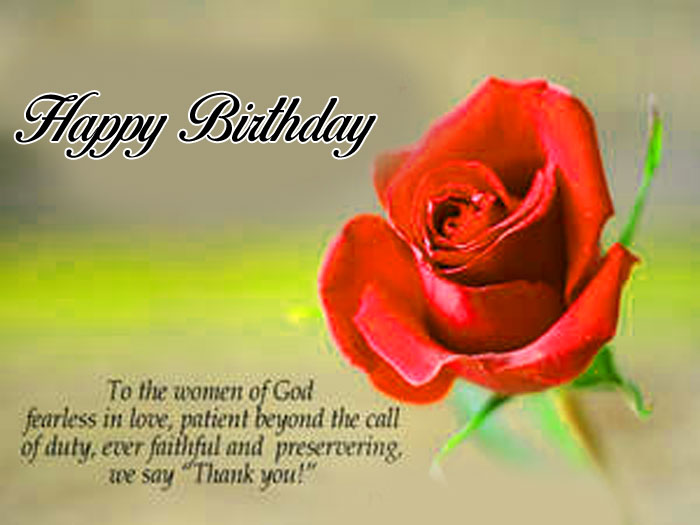 latest Happy Birthday Blessing red rose flower images hd