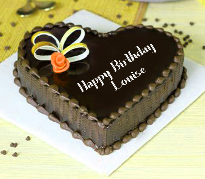 latest Happy Birthday Louise heart cake images